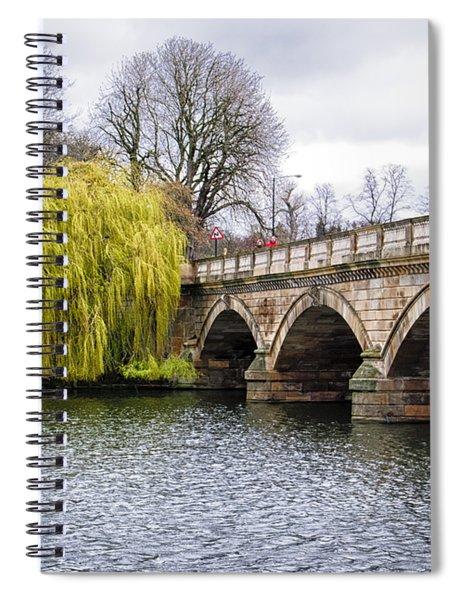 Stroll Along The Serpentine Spiral Notebook