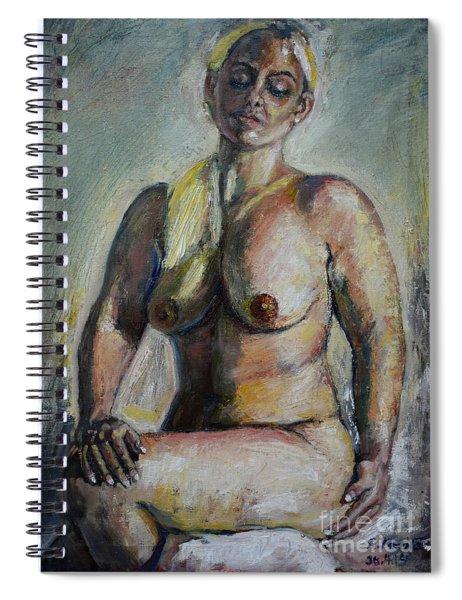 Strong Blond Spiral Notebook
