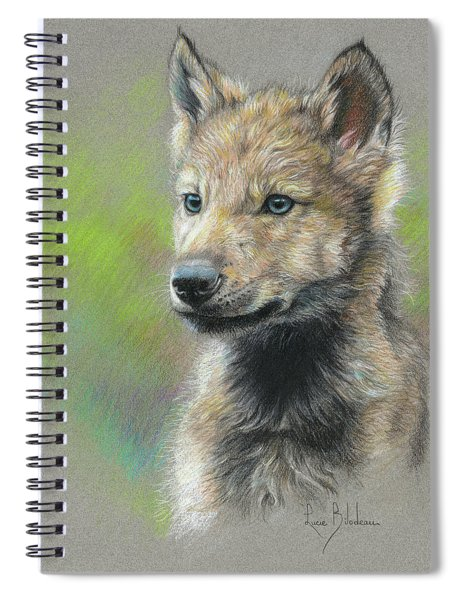 Study - Baby Wolf Spiral Notebook