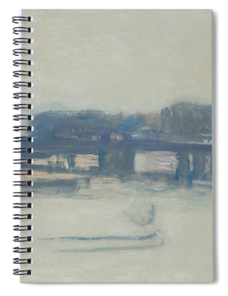 Study For Charing Cross Bridge, 1899-1901 Oil On Canvas Spiral Notebook