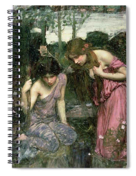 Study For Nymphs Finding The Head Of Orpheus, C.1900 Oil On Canvas Spiral Notebook