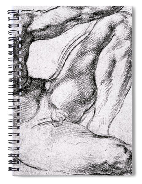Study For The Creation Of Adam Spiral Notebook
