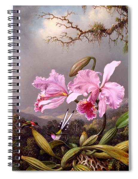 Study Of An Orchid Spiral Notebook