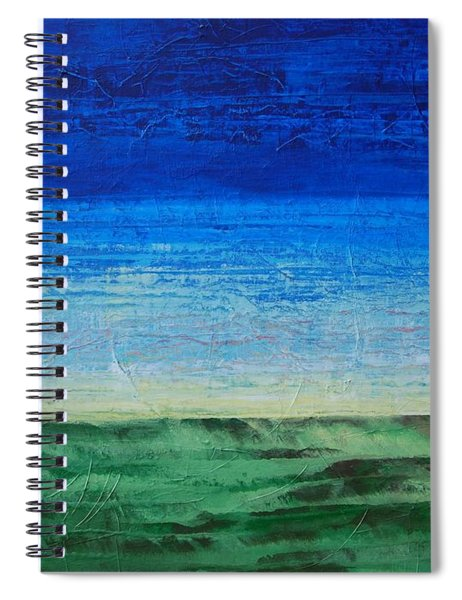 Study Of Earth And Sky Spiral Notebook