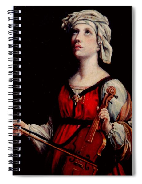 Study Of St. Cecelia Spiral Notebook