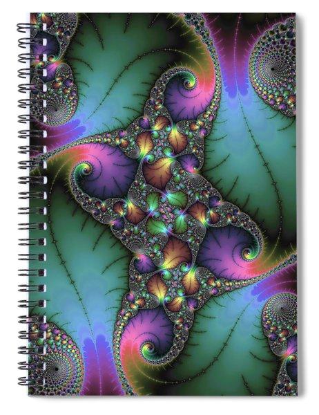 Stunning Mandelbrot Fractal Spiral Notebook