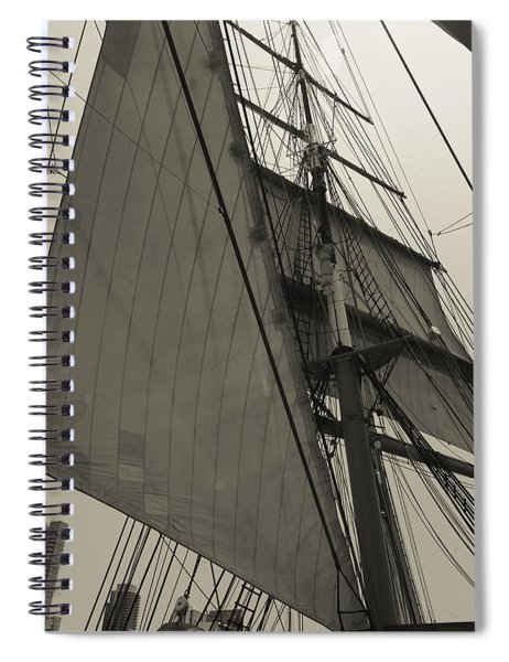 Suare And Triangle Black And White Sepia Spiral Notebook
