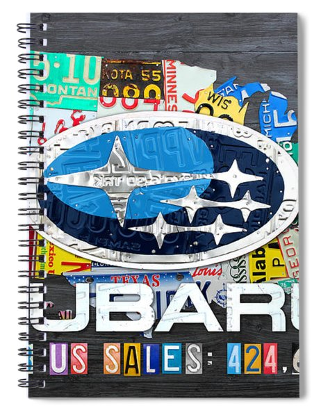 Subaru License Plate Map Sales Celebration Limited Edition 2013 Art Spiral Notebook