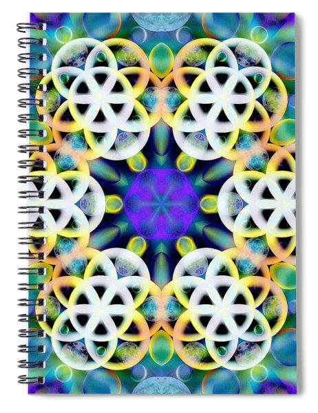 Spiral Notebook featuring the digital art Subatomic Orbit by Derek Gedney