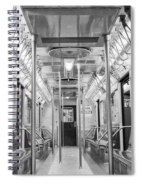 New York City - Subway Car Spiral Notebook