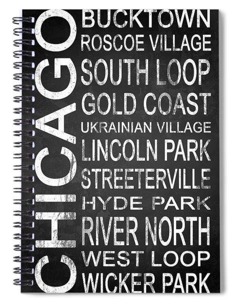 Subway Chicago 2 Spiral Notebook