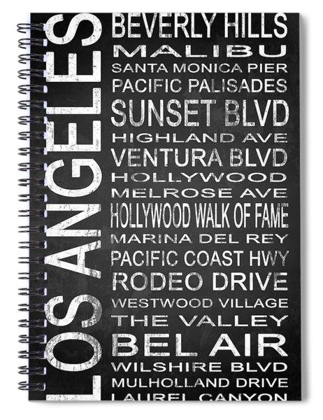 Subway Los Angeles 2 Spiral Notebook