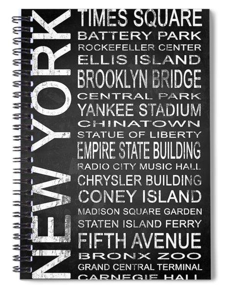Subway New York 1 Spiral Notebook