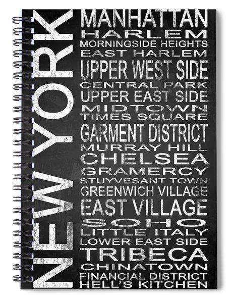 Subway New York 2 Spiral Notebook
