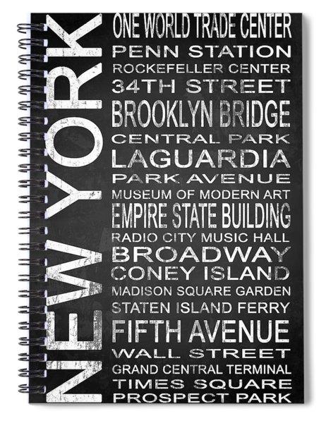 Subway New York 3 Spiral Notebook