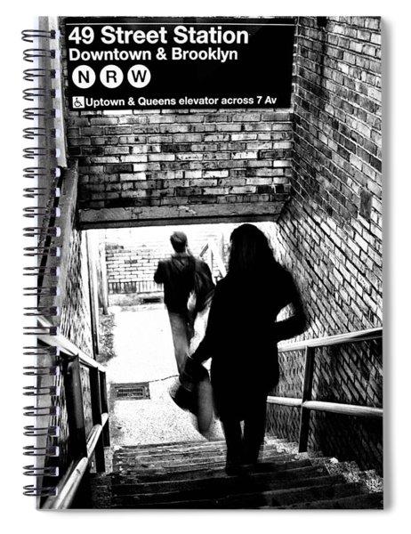 Subway Shadows Spiral Notebook