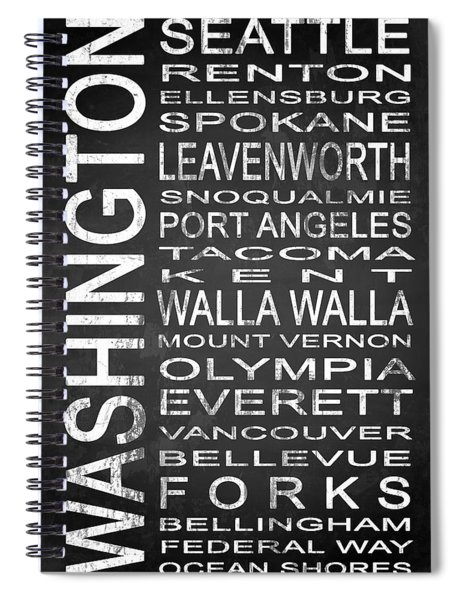 Subway Washington State 1 Spiral Notebook