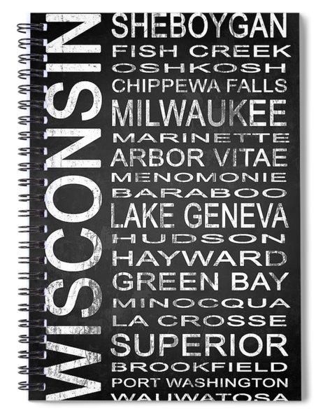 Subway Wisconsin State 2 Spiral Notebook