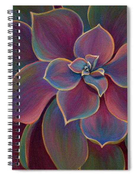 Spiral Notebook featuring the painting Succulent Delicacy by Sandi Whetzel