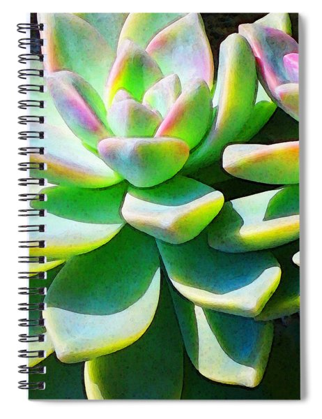 Succulent - Plant Art By Sharon Cummings Spiral Notebook