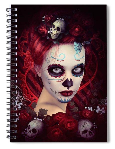 Sugar Doll Red Spiral Notebook