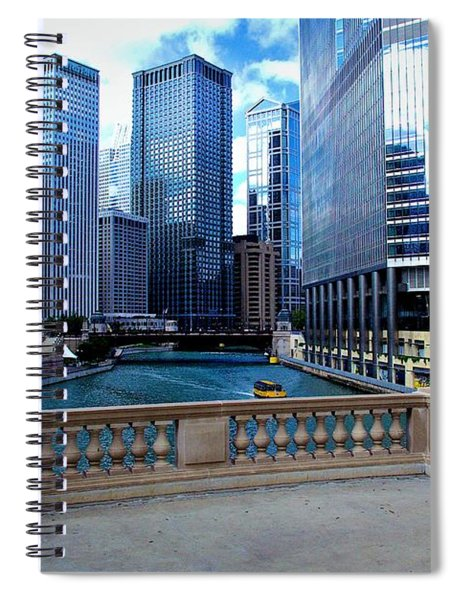 Summer Breeze On The Chicago River - Color Spiral Notebook