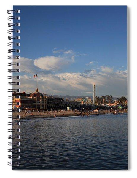 Summer Evenings In Santa Cruz Spiral Notebook