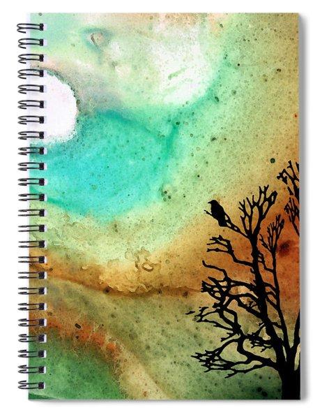 Summer Moon - Landscape Art By Sharon Cummings Spiral Notebook