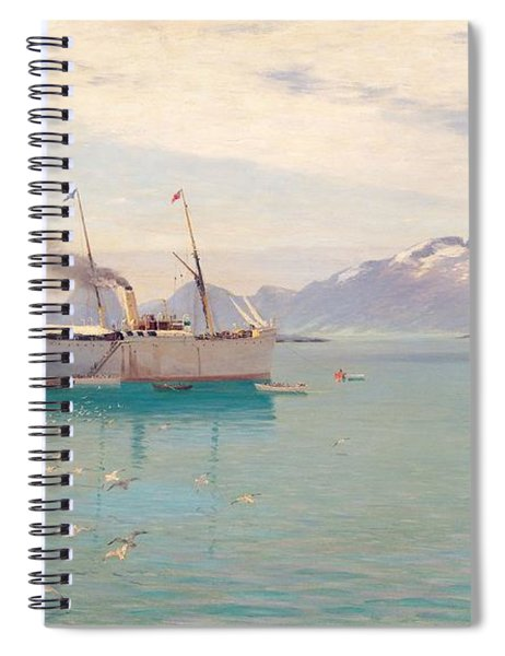 Summer Morning At Molde, 1892 Spiral Notebook