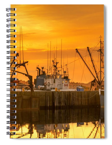Spiral Notebook featuring the photograph Summer Nights by Garvin Hunter