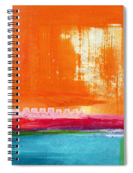 Summer Picnic- Colorful Abstract Art Spiral Notebook