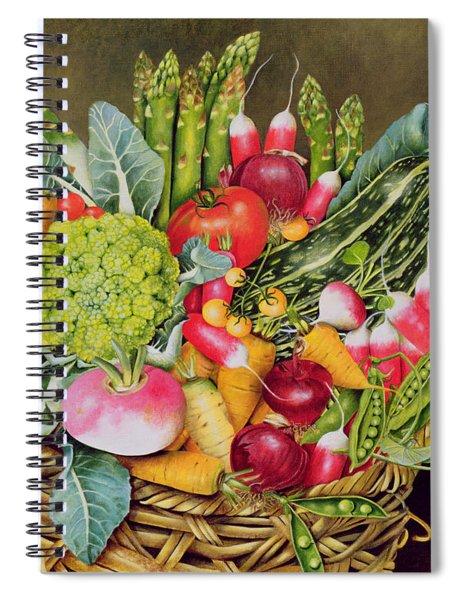 Summer Vegetables Spiral Notebook