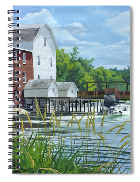 Summertime At The Old Mill Spiral Notebook