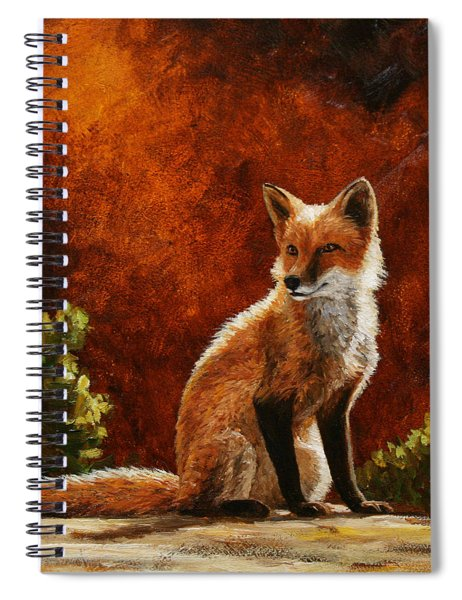 Sun Fox Spiral Notebook
