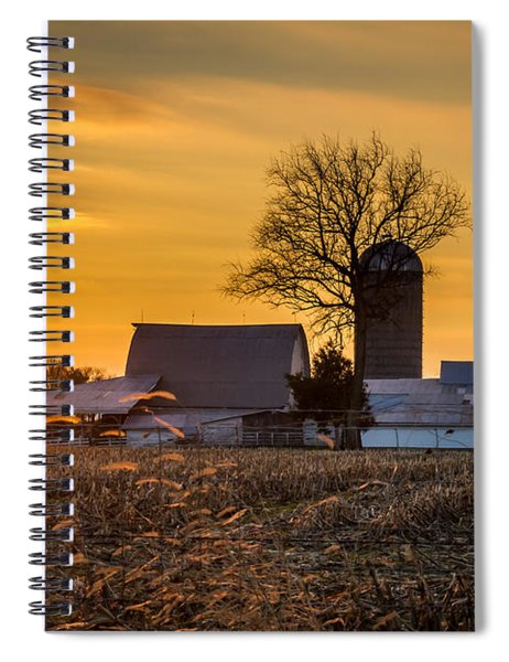 Sun Rise Over The Farm Spiral Notebook