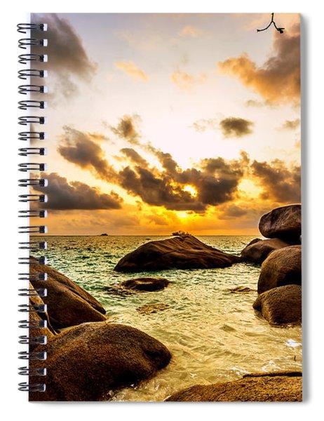 Sun Sand Sea And Rocks Spiral Notebook