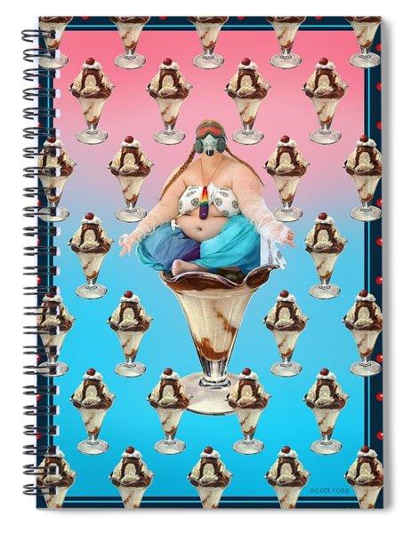 Sundae Girl Spiral Notebook