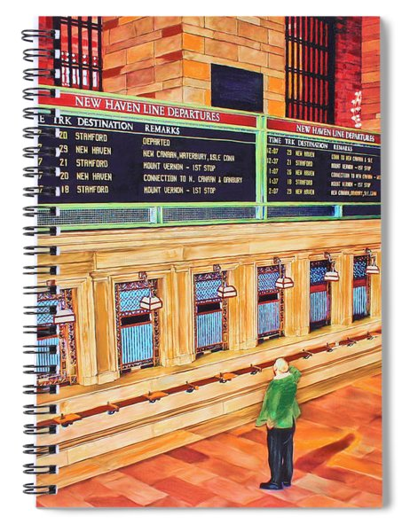 Sunday Am At Grand Central Spiral Notebook