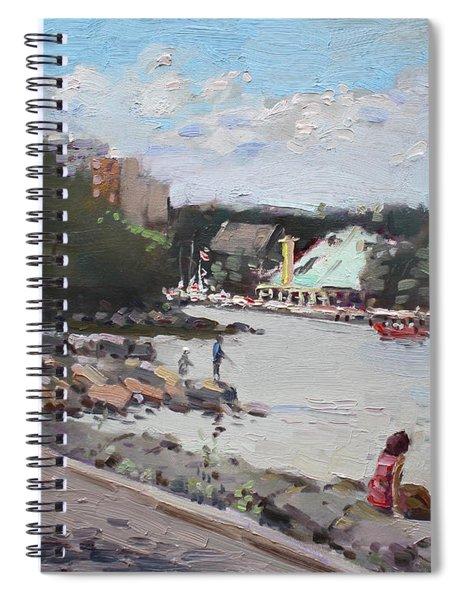 Sunday At Port Credit Park Mississauga Spiral Notebook