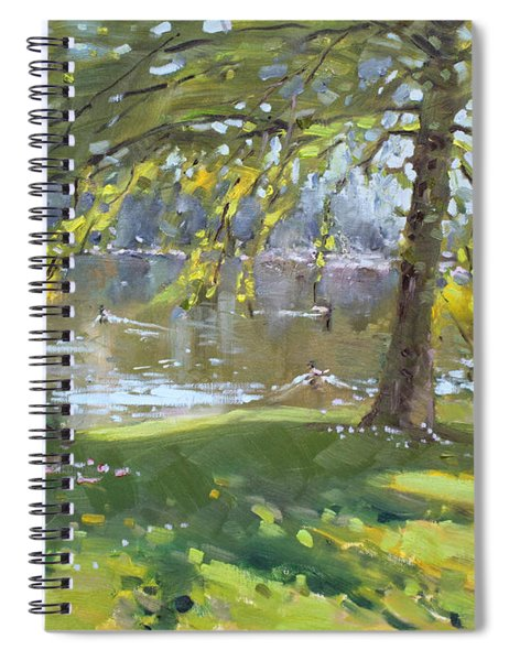 Sunday By The Pond In Port Credit Mississauga Spiral Notebook