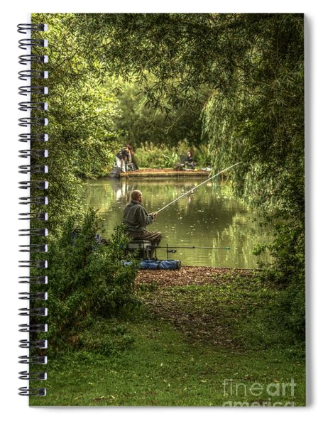 Sunday Fishing At The Lake Spiral Notebook