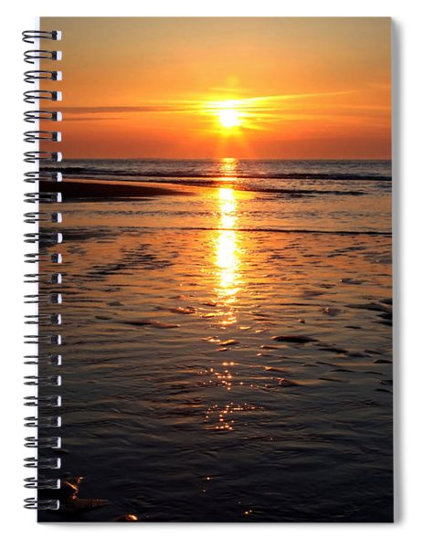 Sundown At The North Sea Spiral Notebook