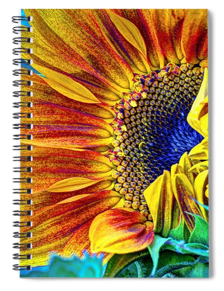 Sunflower Abstract Spiral Notebook