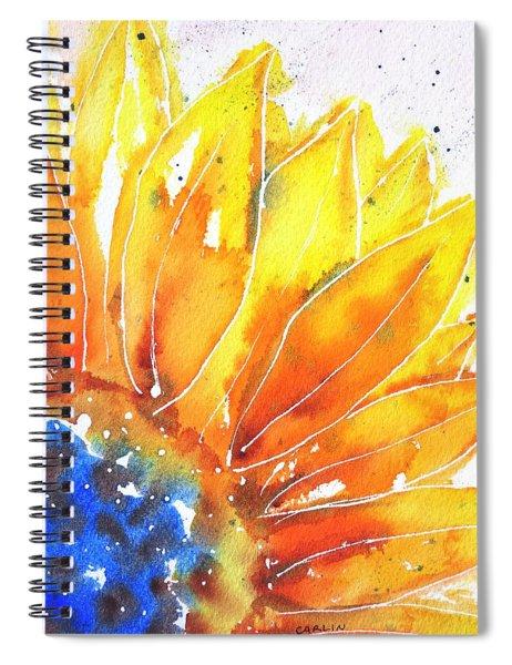 Sunflower Blue Orange And Yellow Spiral Notebook
