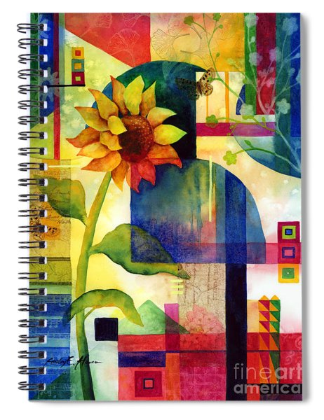 Sunflower Collage Spiral Notebook