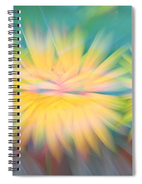 Sunflower Garden Abstract Spiral Notebook