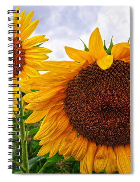 Sunflower Mama And Her Daughters  Spiral Notebook