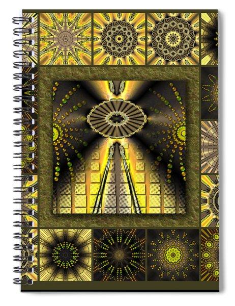 Sunflower Moon Redux Spiral Notebook