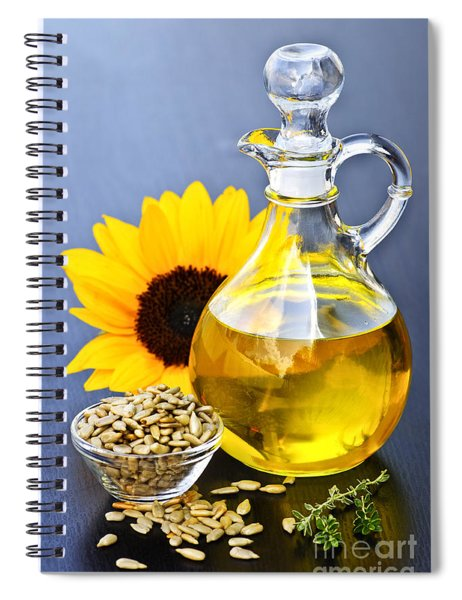 Sunflower Oil Bottle Spiral Notebook