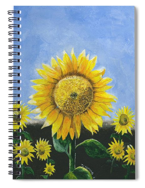 Sunflower Series One Spiral Notebook